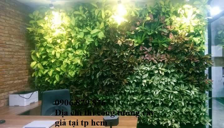 Địa chỉ thi công tường cây giả, tường cỏ giả tại tp hcm