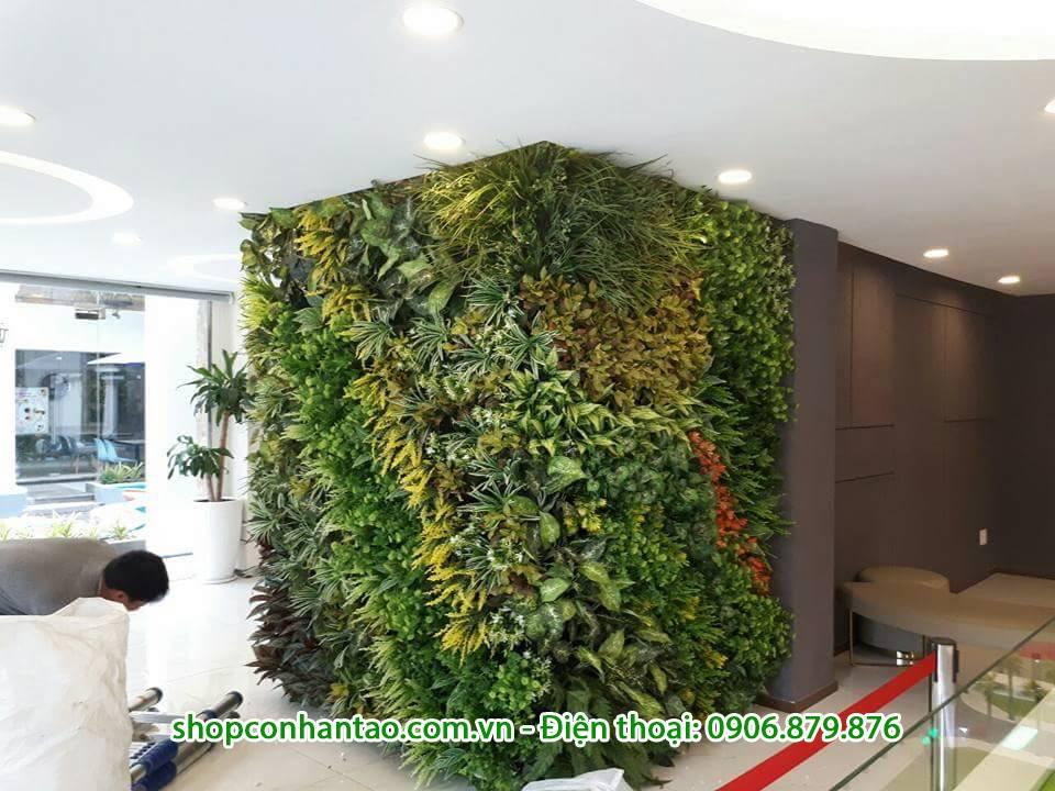 Hình ảnh các mẫu tường cây giả đẹp, bảng giá các loại tường cây giả
