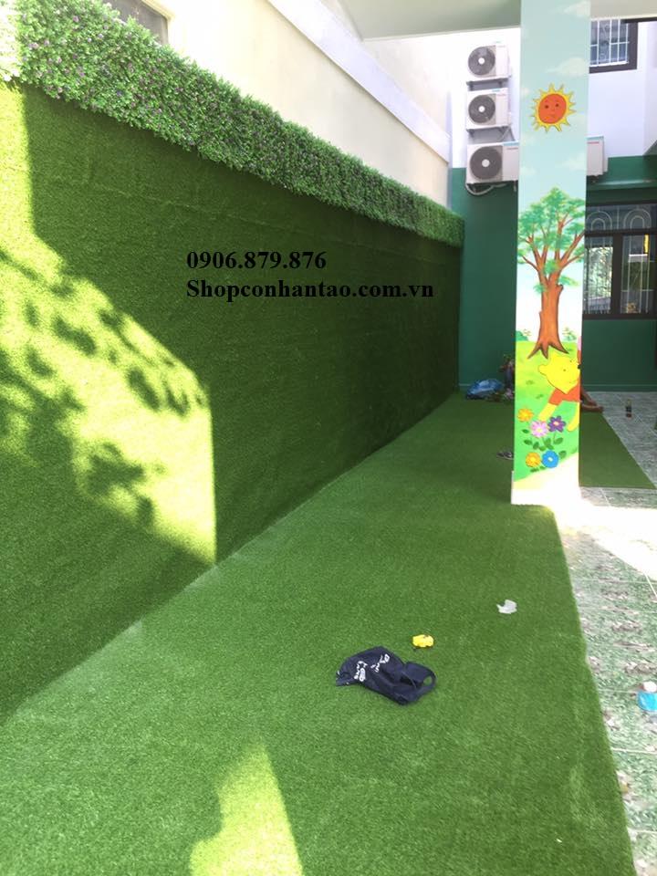 Cung cấp thi công cỏ nhân tạo tại thủ đức, thảm cỏ dán tường, vách tường cây giả tại thủ đức