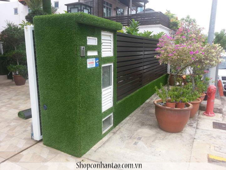 Thi công cỏ nhân tạo ốp tường tai quận 9, cỏ nhân tạo dán tường tại quận 9 tp hcm