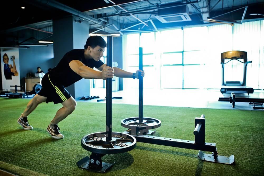 Loại cỏ nhân tạo chuyên lót phòng tập gym, phòng tạ