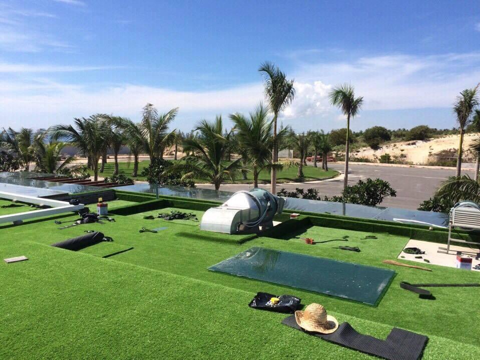 Cỏ nhân tạo sân vườn lót The Anam Nha Trang Resort