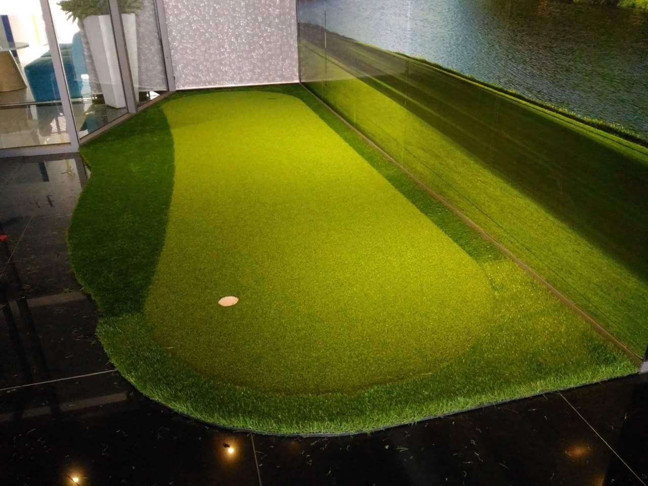 Cỏ sân golf nhân tạo, thi công sân golf mini tập đánh trong nhà, cỏ sân golf tại tp hcm