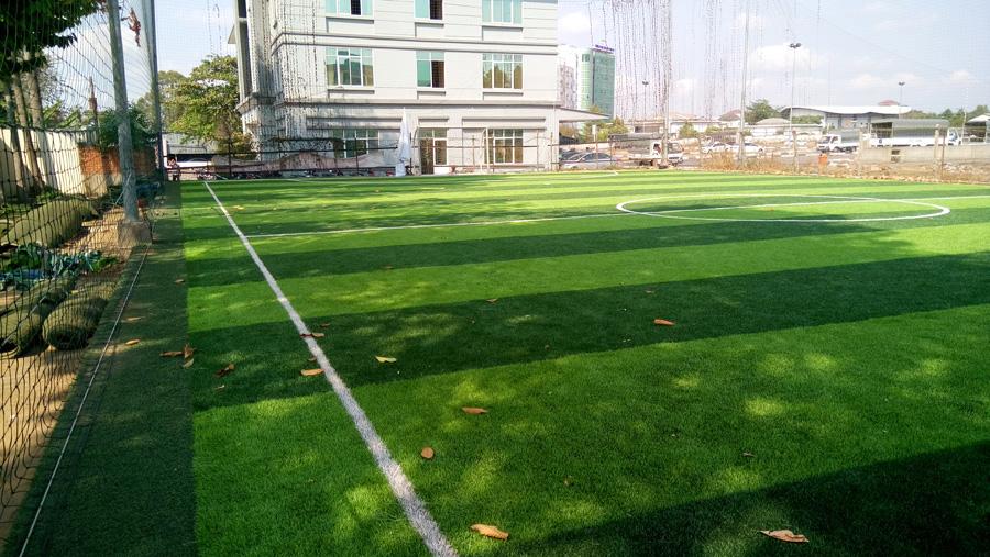 Cỏ nhân tạo sân bóng đá quận 2