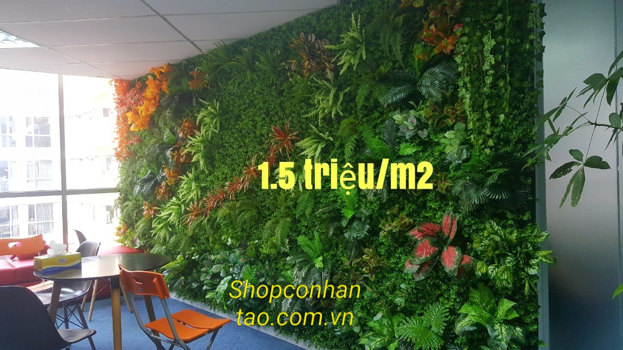 Thi công cỏ nhân tạo dán tường tại tân phú, cỏ nhân tạo ốp tường tại quận tân phú