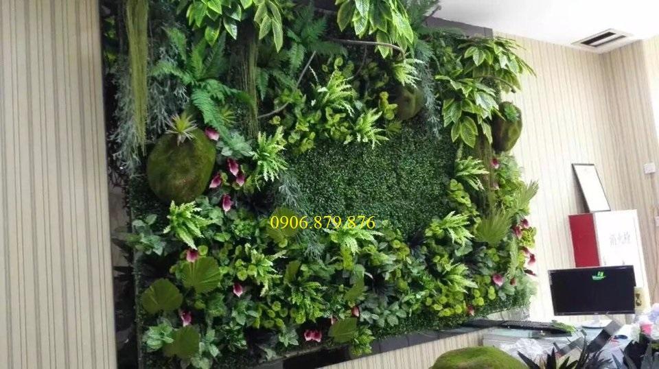 Thi công cỏ nhân tạo dán tường tại Gò Vấp, TP HCM,